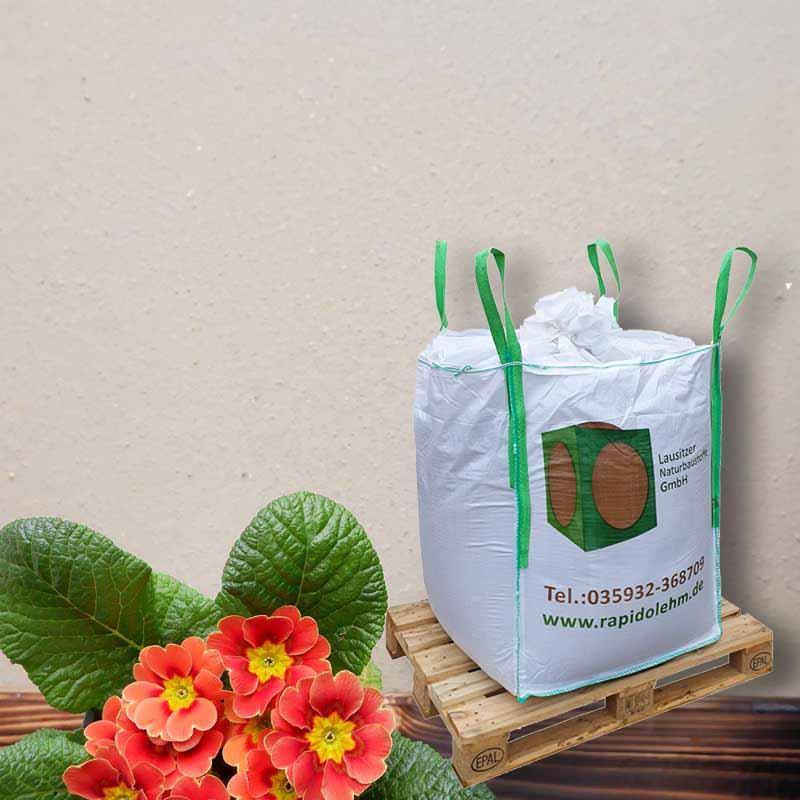Lehmputz Universal Rapido erdfeucht 1to Big Bag  Korn 0-2 mm, nach DIN 18947 Lehmputzmörtel (versandkostenfrei) auf Euro-TAUSCH-Palette - 101011013012350