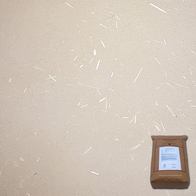 Lehmputz Universal Rapido trocken mit STROH, nach DIN 18947, 25 kg Sack, versandkostenfrei - 101011013012250