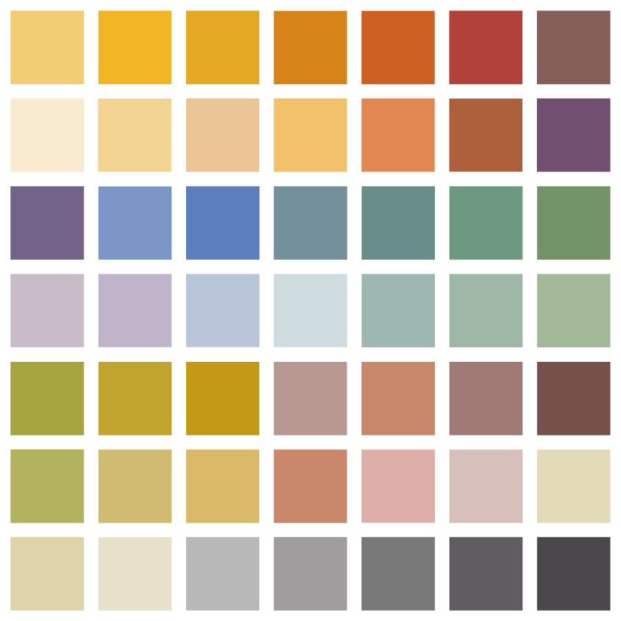 Farbfächer Rapidolehm